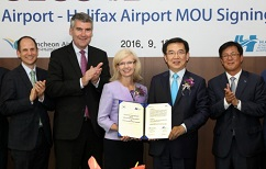 "Halifax Stanfield Expands ""Sister Airport"" Agreement  with  Incheon International"